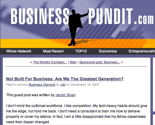 Welcome Business Pundit readers!