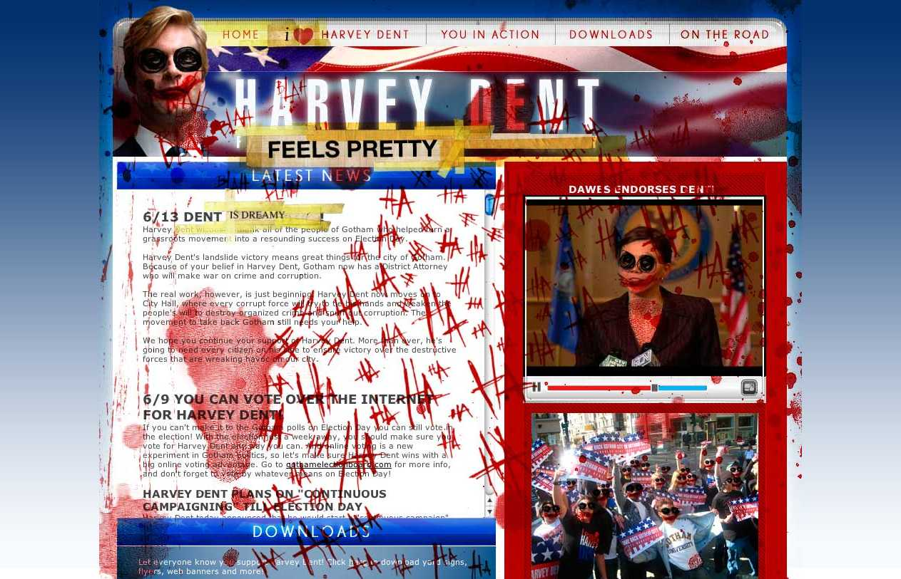 Defaced I Believe in Harvey Dent Site